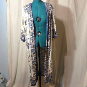 Cotton kimono duster